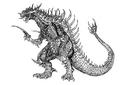 Concept Art - Godzilla 2000 Millennium - Orga 78