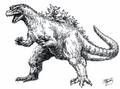 Concept Art - Godzilla vs. Destoroyah - Godzilla Junior 1