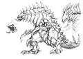 Concept Art - Godzilla 2000 Millennium - Orga 81