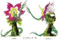 Concept Art - Godzilla vs. Biollante - Biollante Rose 4