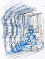 Concept Art - Godzilla vs. MechaGodzilla 2 - MechaGodzilla Dock 1