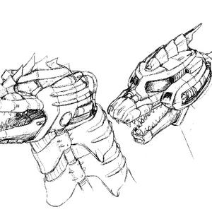 Concept Art - Godzilla Against MechaGodzilla - Kiryu Head 1.png