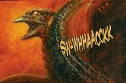 Demon Rodan is attacked (Godzilla in Hell)