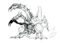 Concept Art - Godzilla vs. Destoroyah - Destoroyah 13