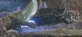 Gamera - 5 - vs Guiron - 33 - Guiron fails to cut Gamera as Gamera flies away before he can get cut