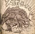 Godzilla uproots Biollante