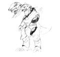 Concept Art - Godzilla Against MechaGodzilla - Kiryu 24