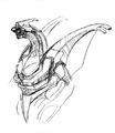 Concept Art - Godzilla 2000 Millennium - Orga 42