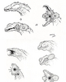 Concept Art - Godzilla vs. Biollante - Biollante Head 1