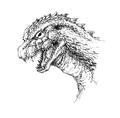 Concept Art - Godzilla 2000 Millennium - Godzilla Head 2
