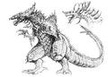 Concept Art - Godzilla 2000 Millennium - Orga 12