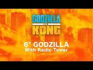 "6"" Godzilla with Radio Tower"