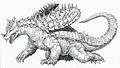 Concept Art - Godzilla vs. Ghost Godzilla - Anguirus 2