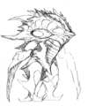 Concept Art - Godzilla 2000 Millennium - Orga 36