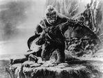 King Kong 1933 Kong vs. Pterodactyls Production Pic