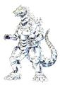 Concept Art - Godzilla Against MechaGodzilla - Kiryu 52