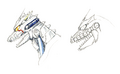 Concept Art - Godzilla Against MechaGodzilla - Kiryu Head 3