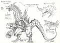 Concept Art - Godzilla 2000 Millennium - Orga 6