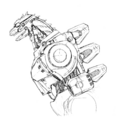 Concept Art - Godzilla Against MechaGodzilla - Kiryu 41