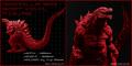 Godzilla Planet of the Monsters - Red Vinyl Godzilla figure