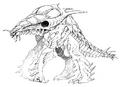 Concept Art - Godzilla 2000 Millennium - Orga 56