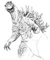 Concept Art - Godzilla 2000 Millennium - Godzilla 3