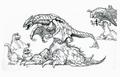 Concept Art - Godzilla vs. Destoroyah - Destoroyah 17