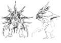 Concept Art - Godzilla 2000 Millennium - Orga 35