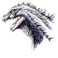 Concept Art - Godzilla 2000 Millennium - Godzilla Head 10