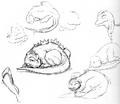 Concept Art - Godzilla vs. MechaGodzilla 2 - Baby Godzilla 5