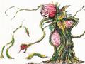 Concept Art - Godzilla vs. Biollante - Biollante Rose 8