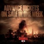 Godzilla Tickets on sale in a week
