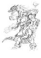 Concept Art - Godzilla Against MechaGodzilla - Kiryu 37