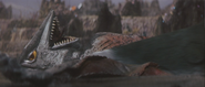 Gamera - 5 - vs Guiron - 17 - Guiron Cuts Space Gyaos' OTHER Wing