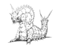 Concept Art - Godzilla vs. Mothra - Battra Larva 16