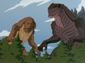 Zilla Junior and Komodithrax