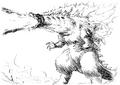 Concept Art - Godzilla 2000 Millennium - Godzilla 26