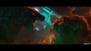 Godzilla roars at kong