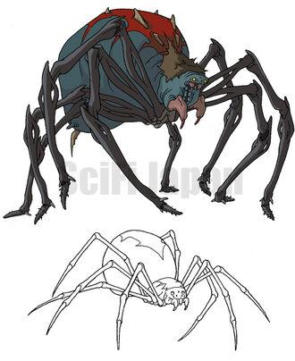 Giant Mutant Black Widow Spider concept art