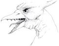 Concept Art - Godzilla vs. MechaGodzilla 2 - Rodan Head 2