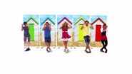 Characters with Beach Houses in Blue Sky Sunshine Day (The Go!Go!Go! Show, Nick Jr.)