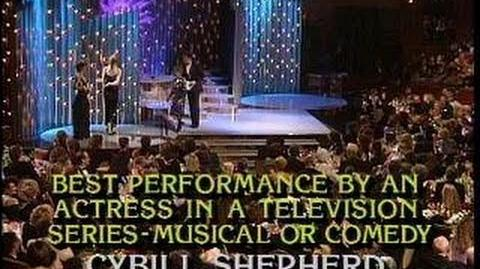 Estelle Getty & Cybill Shepherd Win Best Performance By Actress TV Series - Golden Globes 1986