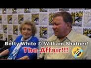Betty White & William Shatner joking about their affairs and TV show family opportunities.