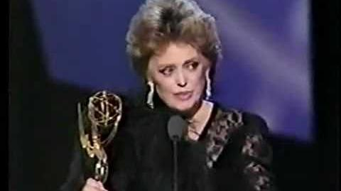★ Rue McClanahan ★ Receiving An Emmy Award For The Golden Girls ★ 1987 ★