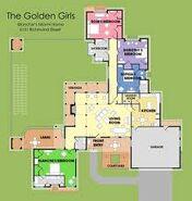The Golden Girls House Floorplan