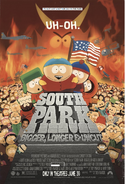 South Park Bigger Longer And Uncut (1999) Theatrical Poster