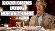 Crowley and Aziraphale Being Human - Good Omens Episodes - Prime Video