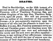 Pomeroy (Sedgwick), Elizabeth Mason