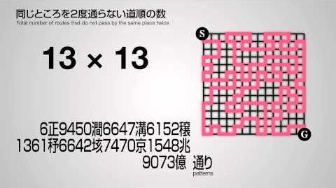 「フカシギの数え方」 同じところを2度通らない道順の数