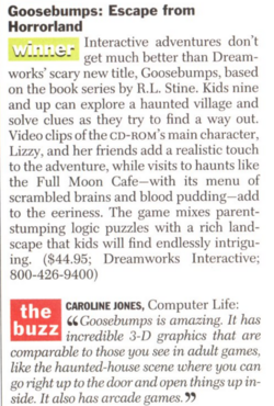 Escape from Horrorland game review Time Mag Nov 25 1996.png